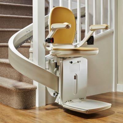 Treppenlift gebraucht mit Kurve