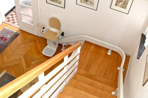 Treppenlift Ansicht von oben