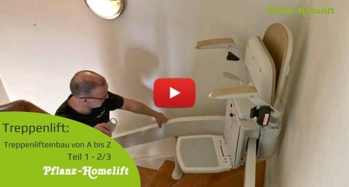 Treppenlift Einbau Video