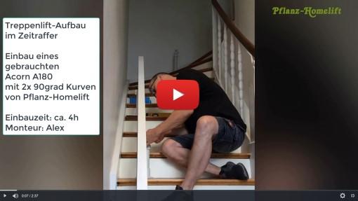 Treppenlift Einbau Zeitraffer Video